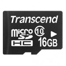TRANSCEND microSDHC 16GB Class 10 no adapter