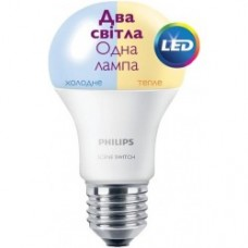 Лампа світлодіодна Philips LED Scene Switch E27 9.5-60W 3000K/6500K 230V A60