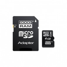 GoodRam microSDHC 4Gb class 4 (adapter SD)