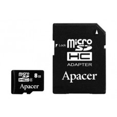 Apacer microSDHC 8Gb class 4 (adapter SD)