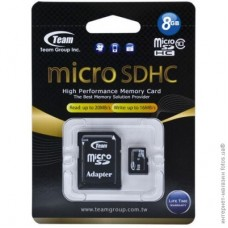 Team microSDHC 8Gb class 10 (adapter SD)