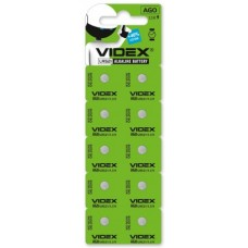 Батар часов Videx  AG 0 (LR521) BLISTER CARD 10 pcs