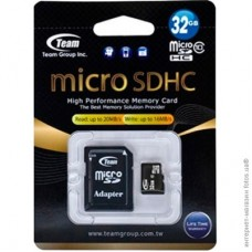 Team microSDHC 32Gb class 10 (adapter SD)