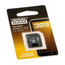 GoodRam microSDHC (UHS-1) 32Gb class 10 (adapter SD)