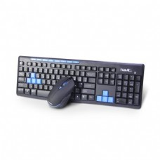 Комплект HAVIT HV-KB527GCM wirelessUSB, black+blue