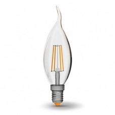 LED лампа VIDEX Filament C37Ft 4W E14 4100K 220V (VL-C37Ft-04144)