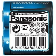 Батар. Panasonic GENERAL PURPOSE R20 TRAY2 ZINK-CARBON